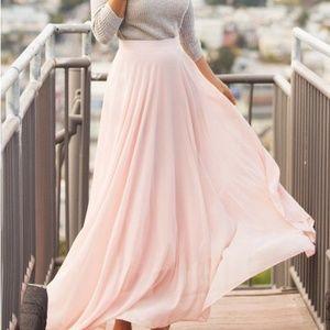 Amelia Light Pink Maxi Skirt